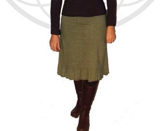 Organic Skirt - Organic cotton and hemp ruffle bottom  skirt handmade and dyed Just for you
