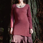 Hemp Long Sleeve - Eco friendly dress- Handmade and dyed to order using Organic cotton and Hemp jersey