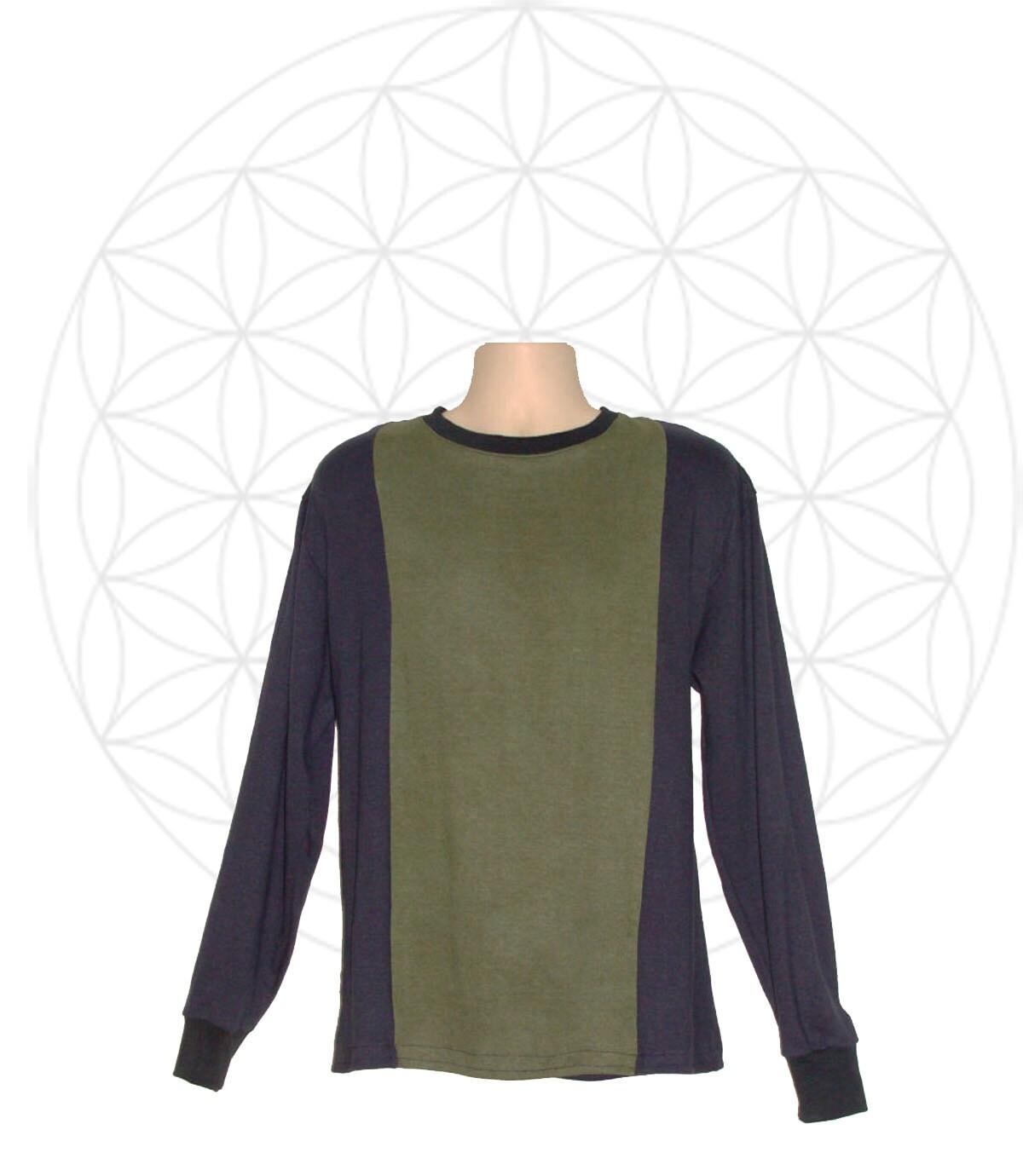 Mens Long Sleeved Shirt Handmade Organic Cotton And Hemp Etsy