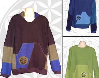 Organic Cotton and Hemp Hoodies for men, Custom made to order - no two exactly alike,
