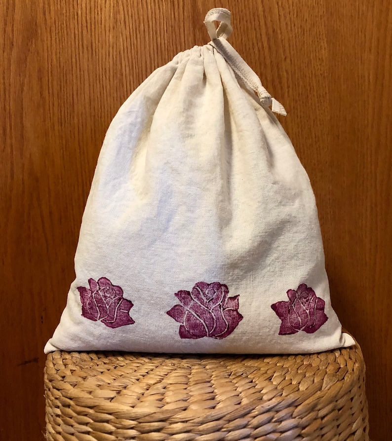 Reusable Bags for Bulk foods - Organic Cotton and Hemp Three sizes and Four  Prints to choose from - great for a gift bag that can be reused
