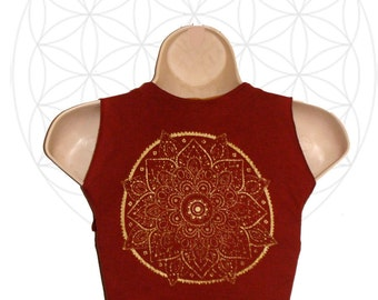 Mandala Vest - Organic Cotton and Bamboo tie vest   -  Custom made and dyed to order