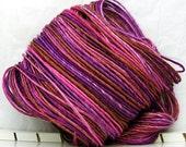 Beautiful Bamboo - Chocolate Berry Shine - HandDyed HandSpun Single Ply Yarn 134 yards 3.8 oz