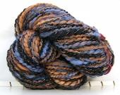 SALE PRICE Batt-tacular - Blue Copper Night - HandSpun Yarn 90 yards 3.2 oz Free USA Shipping