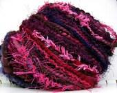 FunctionArt - Black Cherry aka Tainted Love - HandDyed HandSpun Art Yarn 78 yards 3.3 oz merino wool