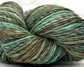 Kitty Singles -  Marsh Bird - HandDyed HandSpun Single Ply Wool Yarn 200 yards 4.5 oz dk weight