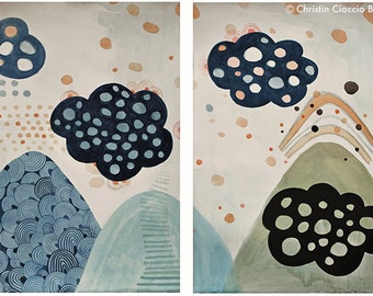 Gumdrop Mountains Diptych