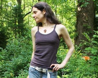 womens hemp clothing - camisole / tank top / undershirt / singlet / strap shirt - 100% hemp and organic cotton - custom made and hand dyed