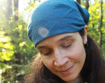 "100% hemp bandana sewn with organic cotton thread - custom made hand dyed - large 24"" to 22"" head wrap do-rag scarf handkerchief face mask"