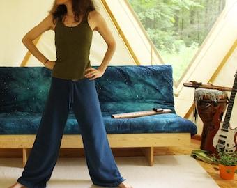 drawstring hemp sweatpants lounge pants  - 100% hemp and organic cotton - custom made hand dyed - optional drawstring cuff - sizes xxs to xl