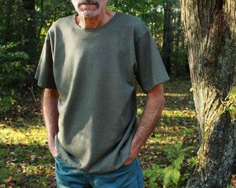 mens hemp shirt t-shirt unisex loose fit short sleeve shirt – 100% hemp and organic cotton – custom made and hand dyed hemp clothing