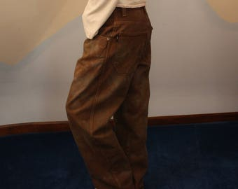 cocoa camos - one of a kind hand dyed vintage 100% cotton jnco jeans - size small