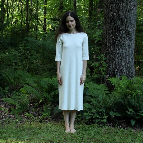 Swiftt Robe De Nuit Longue Femme A Bretelle Coton Chemsie De Nuit Ete sans Manche Col V Uni