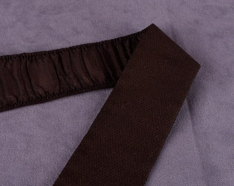 1 yd Brown Ruched Elastic Trim