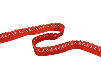 Orange Decorative Edge Elastic (E02O2)