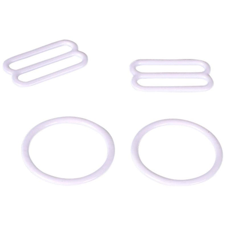 3//8 10mm White Nylon Coated Metal Hooks Bra Adjusters 10mm Bra Making Bramaking