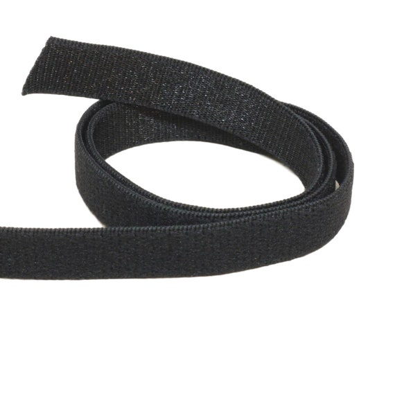 3 Yards DIY Lingerie Supplies Replacement Straps Bulk Options Wide Black Brushed Back Bra Making Strap Waistband Elastic 1 Wide