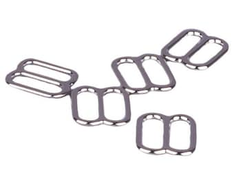 Silver Metal Alloy Strap Sliders - 3/8 inch or 10mm (M810S)