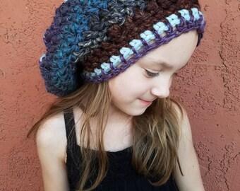 52ebd9c360f Winter hat. Slouchy Hat. Slouchy Beanie. Women s hat. Hippie Hat. Tam Hat.  Reggae Hat.