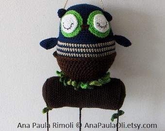 Sleepy Owl Mobile crochet pattern- PDF Digital Download
