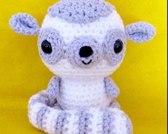 NEW*** Little Amigurumi Lemur crochet pattern - PDF Digital Download