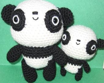 Little Panda and Mom - amigurumi crochet pattern