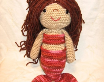 Mermaid Doll crochet pattern - PDF Digital Download