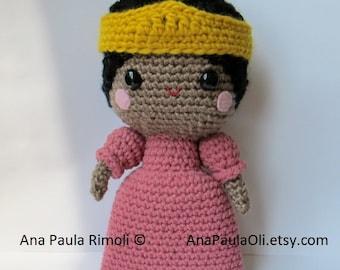 Princess Doll amigurumi crochet pattern - PDF Digital Download