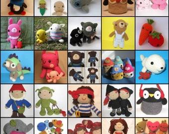 Seriously Cute Crochet 2 ebook - more than 25 amigurumi crochet patterns - PDF Digital Download