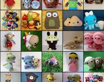 Seriously Cute Crochet ebook - more than 25 amigurumi patterns - PDF Digital Download