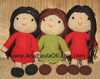 12'' Sweet Doll amigurumi crochet pattern - PDF Digital Download