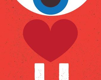 Eye Love You Card Etsy