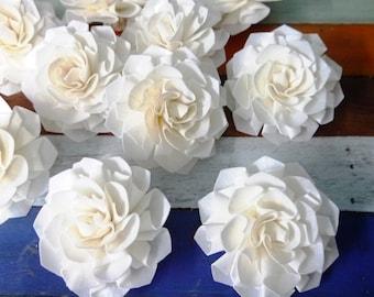 9 Dahlias Sola Wood Diffuser Flowers 8 cm Dia.