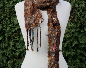 Ursula BR01, an Everyday Scarf handwoven and felted by me BR01