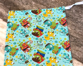 Knitting Project Bag - Monster Mania