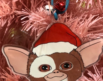 Gremlins Gizmo Acrylic Holiday Xmas Christmas tree Ornament with bells