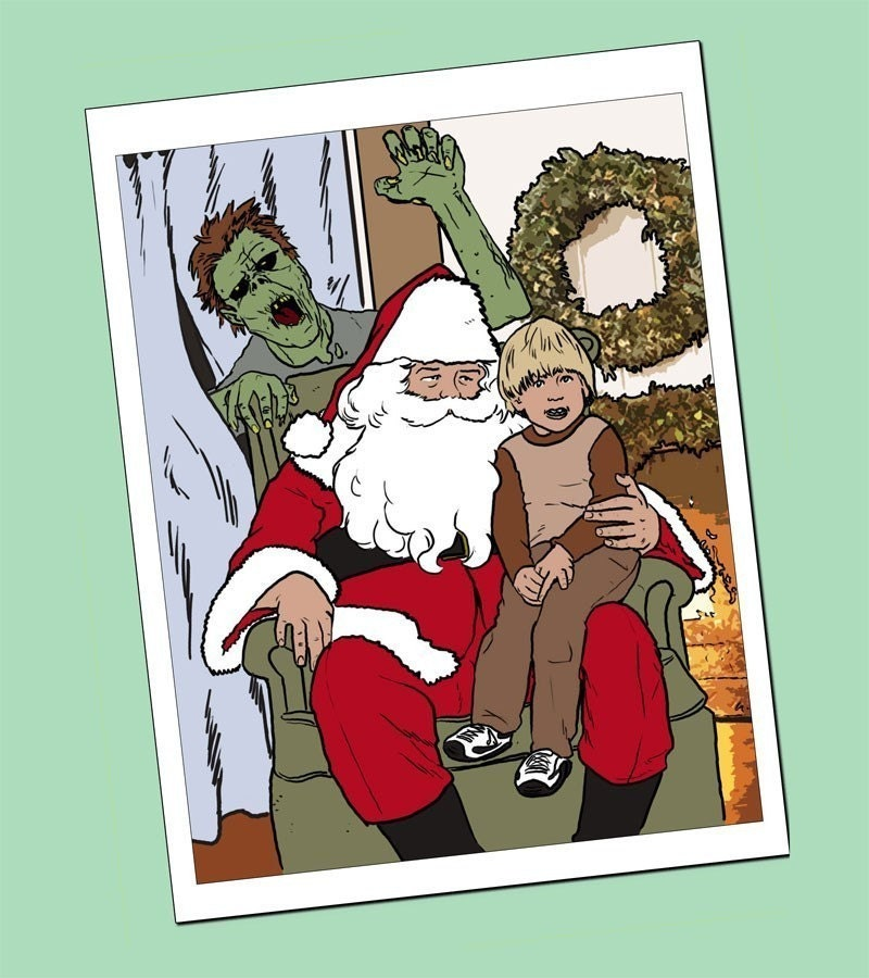 Ten Pack Zombies are More Scary Than Santas Lap Anti Holiday   Etsy