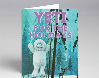 10 Pack Yeti for the Holidays Christmas Xmas Cards