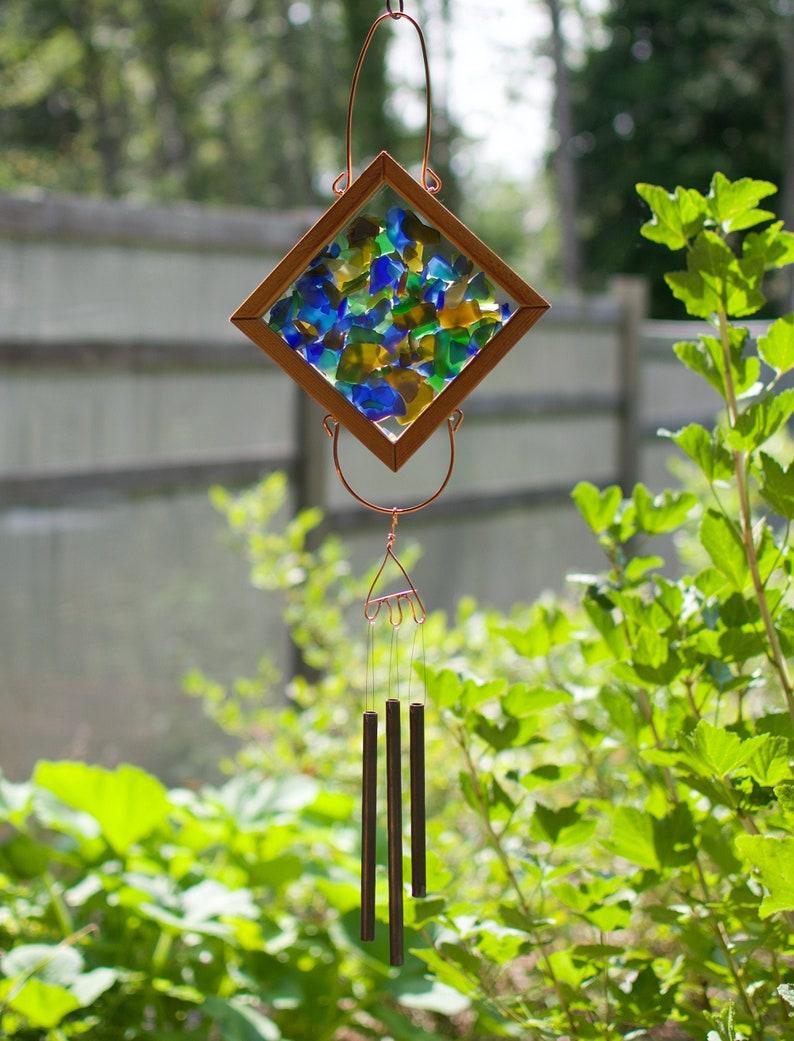 Wind Chime Kaleidoscope Outdoor Glass Windchimes