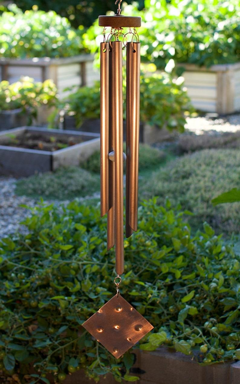 Main Verre En À La Belle Carillons Carillon Extérieur Fabriqués De Grand Cuivre Vent gY6Iyb7fv