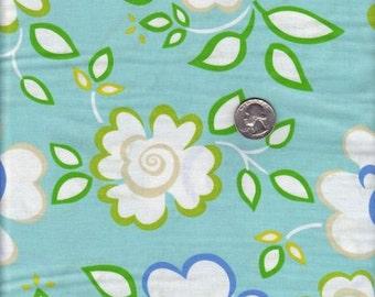 Fat quarter - Dena Fishbein - Kumari Garden - Sachi in Blue cotton quilt fabric