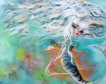 Mermaid, a giclee
