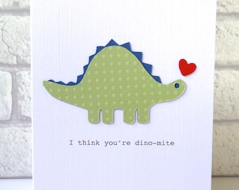Romantic Anniversary Card - dinosaur wedding anniversary card - dinosaur pun - funny anniversary boyfriend geologist - I love you greeting