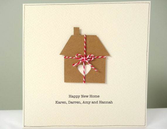 personalized new home card rustic housewarming cards etsy