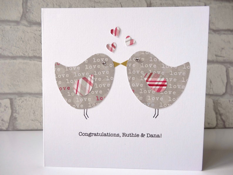 Personalised wedding or engagement congratulations card  love image 0