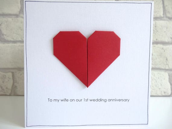 1st wedding anniversary card romantic personalised paper etsy image 0 m4hsunfo
