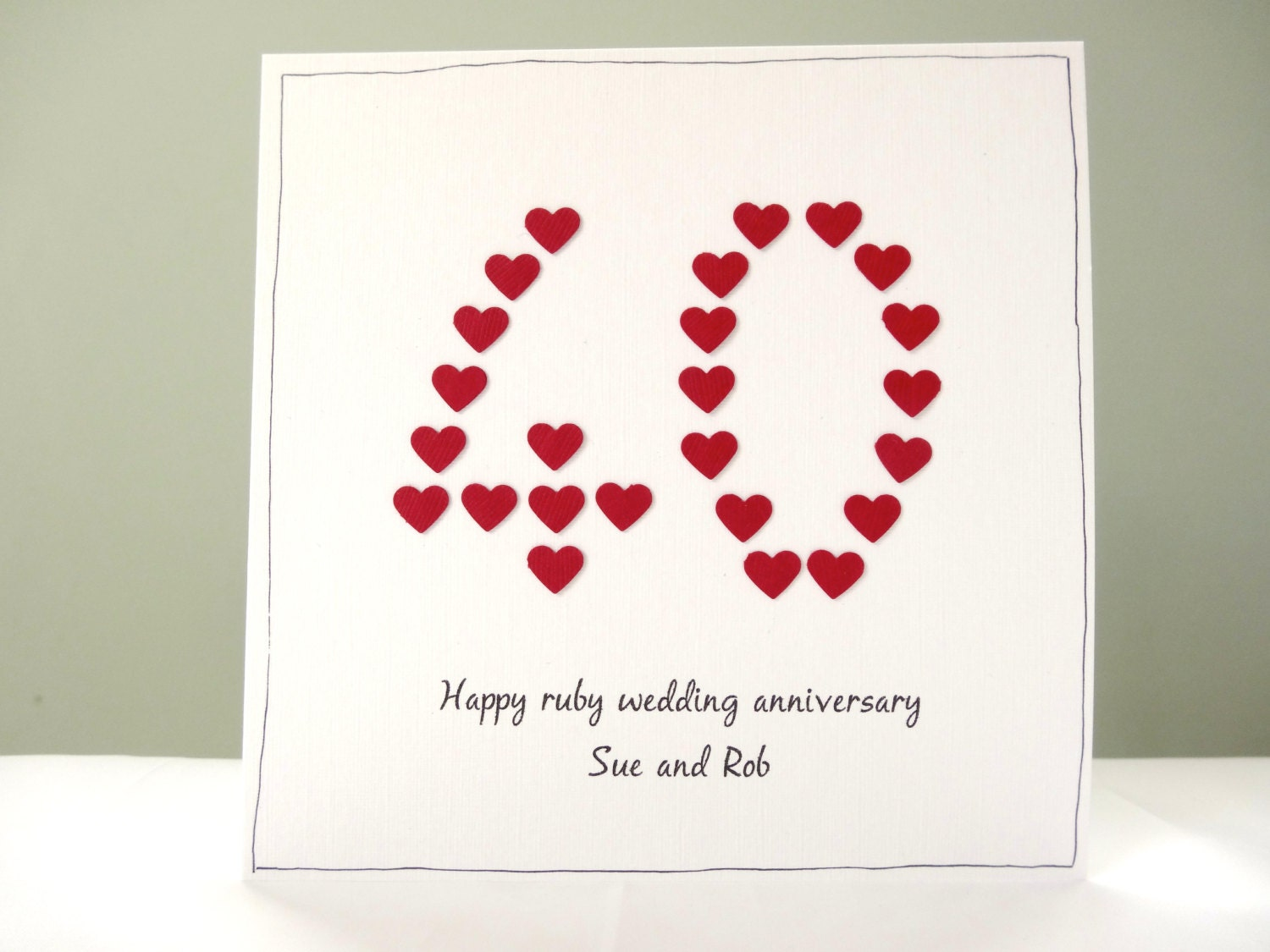 Ruby Wedding Anniversary Gifts: Ruby Wedding Anniversary Card