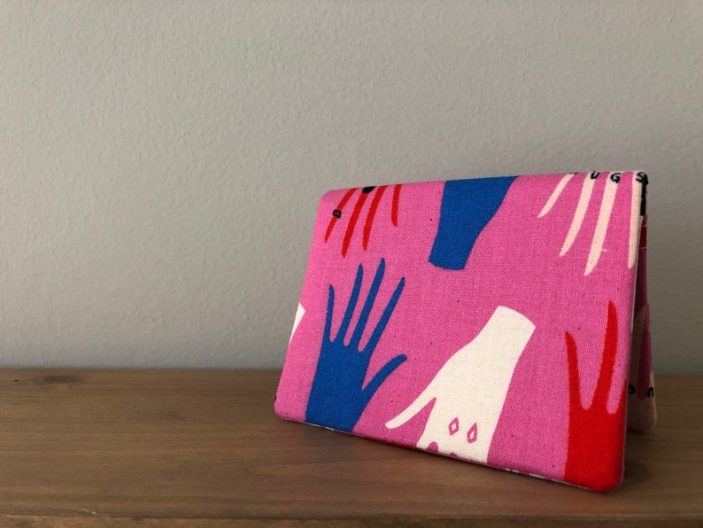 Card Wallet  Pink & Blue Beauty Shop Manicure image 0