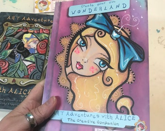 BOOK ~ Create Your Own Wonderland ~ Join Alice on a Mixed Media Adventure (creativity prompt book)