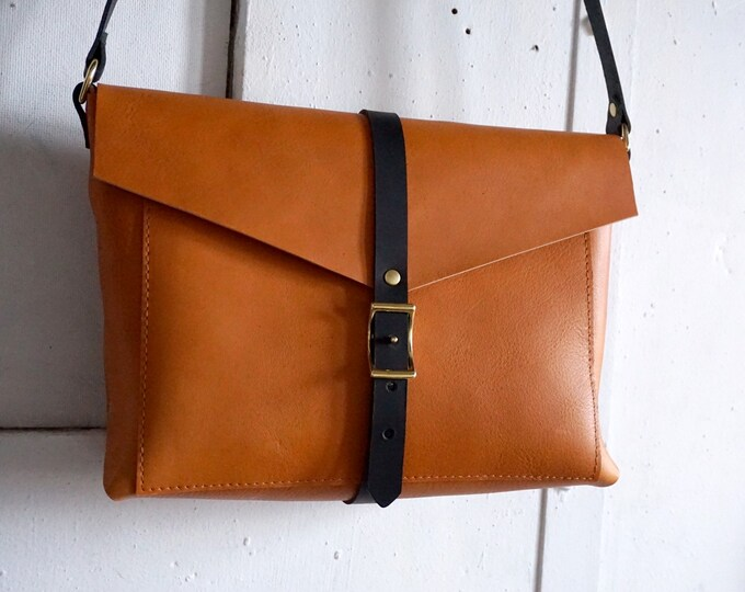Brooklyn bag in honey and slate
